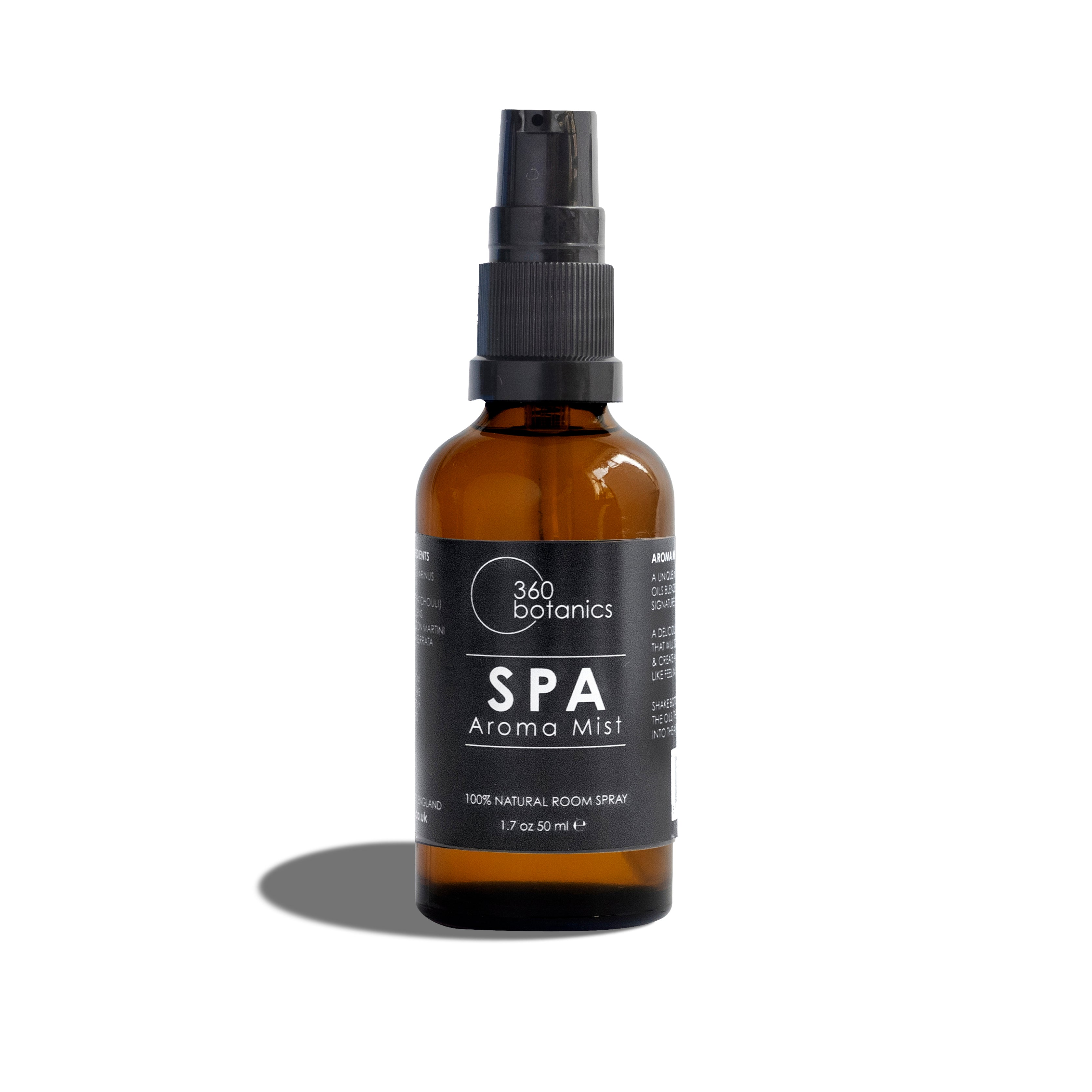 Image of  spa aroma mist photographed on white background