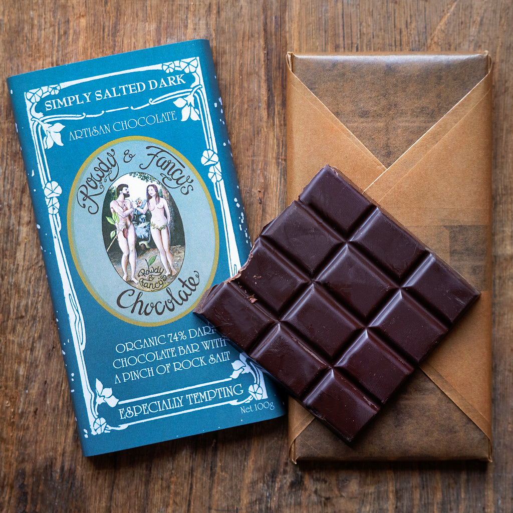 Image of simply-salted chocolate bar by chocolatier Rowdy_Fancy
