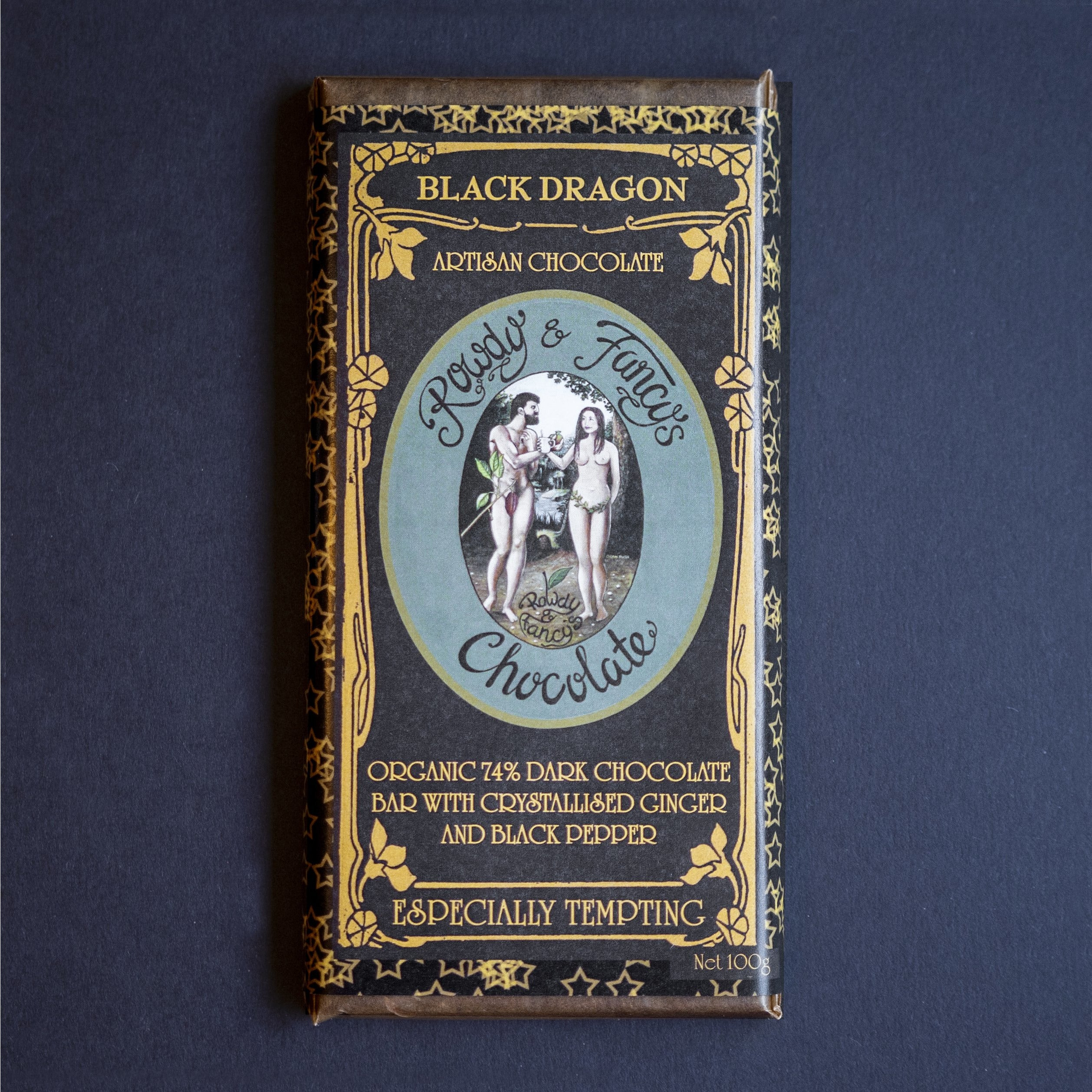 Image of Black-Dragon chocolate bar by chocolatier Rowdy_Fancy