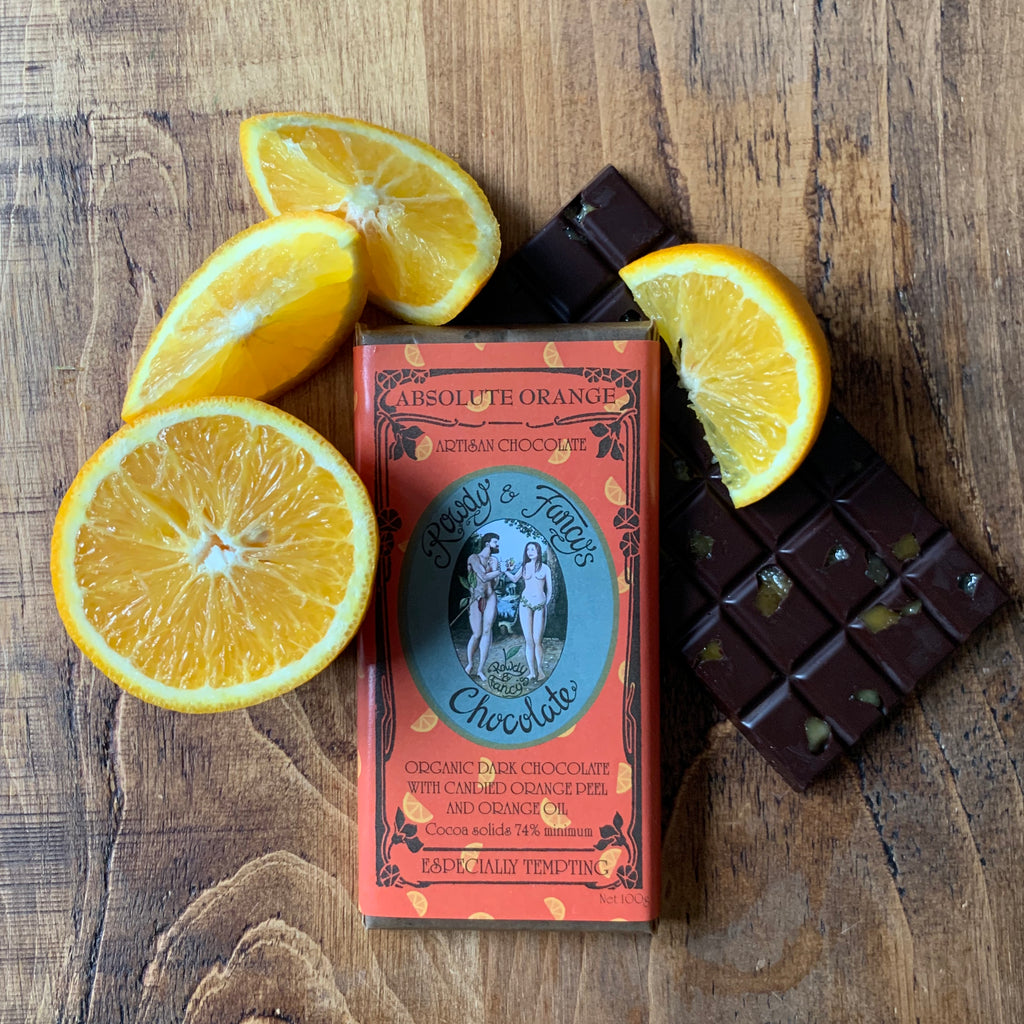 Image of AbsoluteOrange chocolate bar by chocolatier Rowdy_Fancy