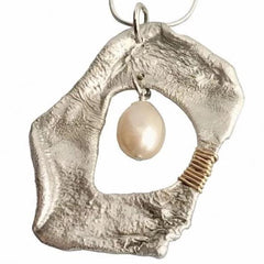 Sterling Pendant with White Pearl - tres-elegante-designs