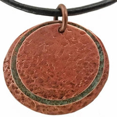 3-Disc Pendant - Copper, Patina, Copper - tres-elegante-designs