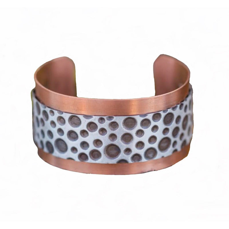 Sterling Bubbles Over Copper Cuff #198