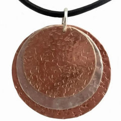 Mixed Metal Round Pendant - tres-elegante-designs
