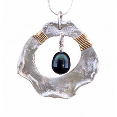 Sterling Pendant with Black Pearl #212