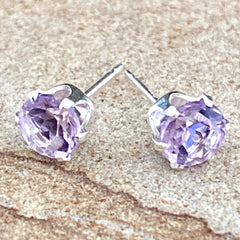 Amethyst Stud Earrings #238
