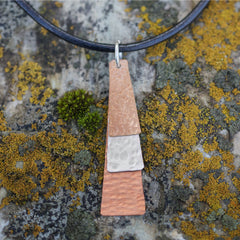 Mixed Metal Trapezoid Pendant #135