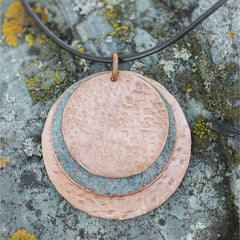 3-Disc Pendant - Copper, Patina, Copper #77