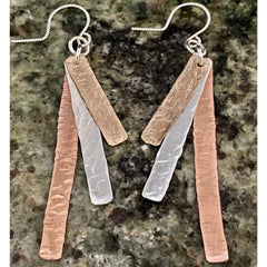 Mixed Metal Dangle Earrings #131