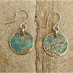 Patina Round Earrings #93