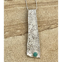 Silver Pendant with Turquoise #304