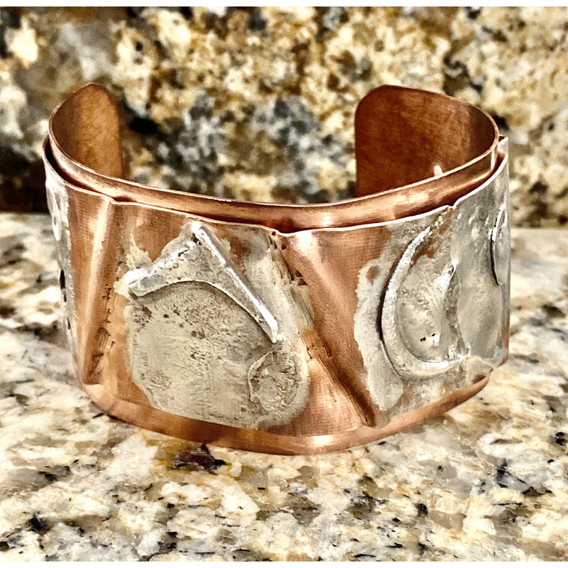 Silver Fusion Cuff with Folds #228