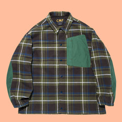 Comfy Outdoor Garment Cotton Flannel Interval Jacket Green