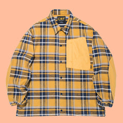 Comfy Outdoor Garment Cotton Flannel Interval Jacket Yellow