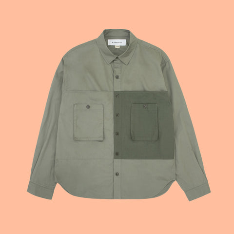 Workware heritage clothing Hong Kong Patch Shirt