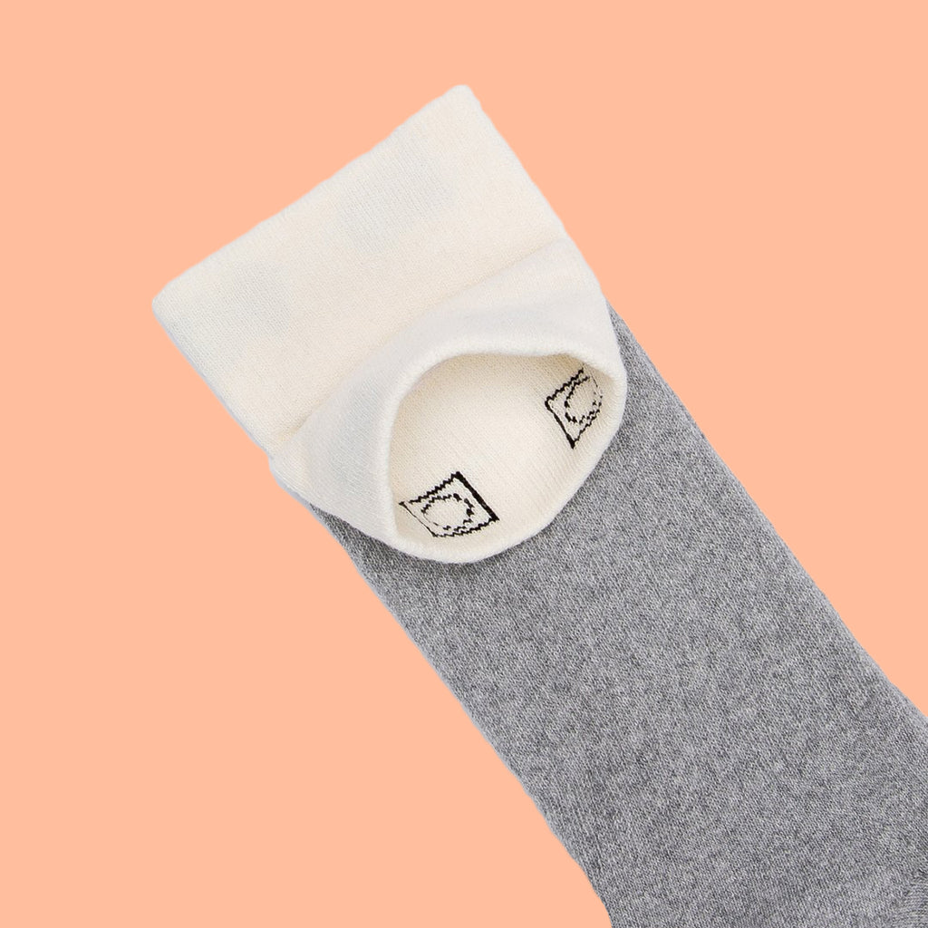 Recycled Crew Socks Heather Grey