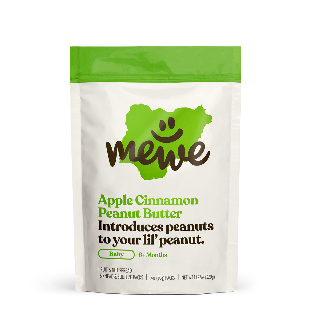 MeWe Baby, Apple Cinnamon Peanut Butter, 16-count