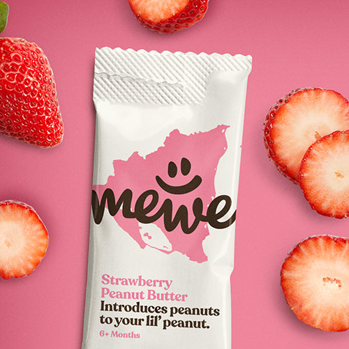 MeWe Baby, Strawberry Peanut Butter, 16-count