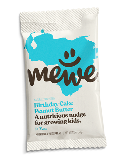 MeWe Kids, Birthday Cake Peanut Butter, 10-count