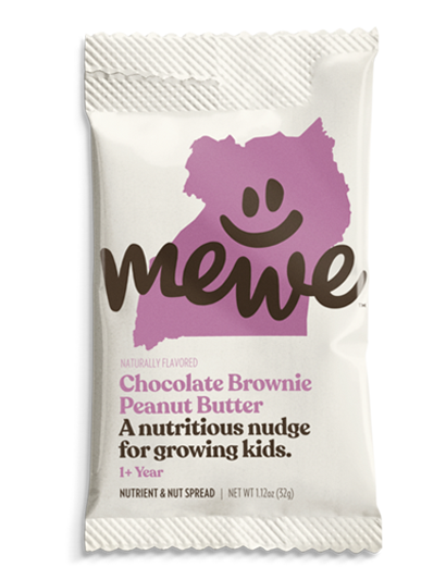 MeWe Kids, Chocolate Brownie Peanut Butter, 10-count