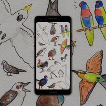 Load image into Gallery viewer, Birds of Australia Wallpaper
