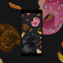 Load image into Gallery viewer, It's Rainin' Snack Phone Wallpaper