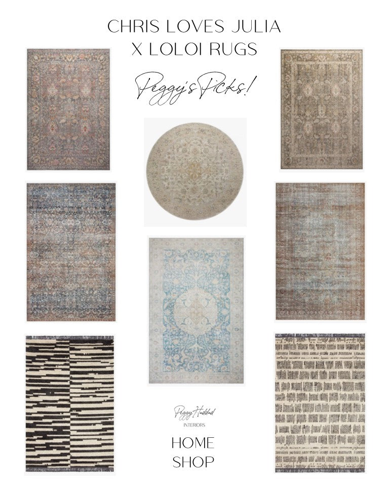 Chris Loves Julia Loloi Rugs Collaboration Rosemarie Jules Alice Rug Collections