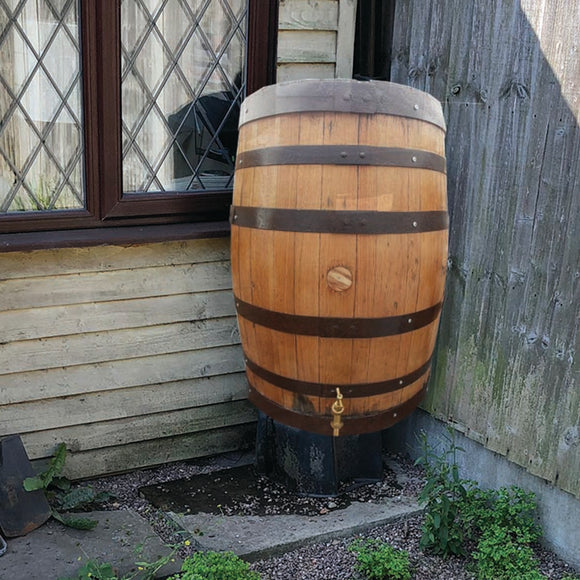 Extra Large Solid Oak Whisky Barrel Water Butt | Rain Collector