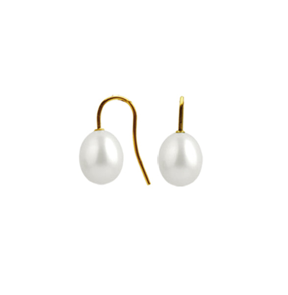 9ct Freshwater Simple Hook Earring