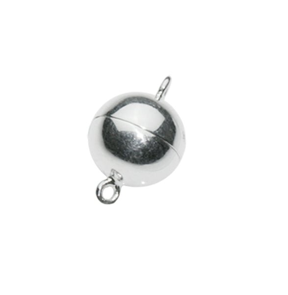 Magnetic Silver Ball Clasp