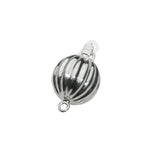 Silver Fluted Ball Clasp