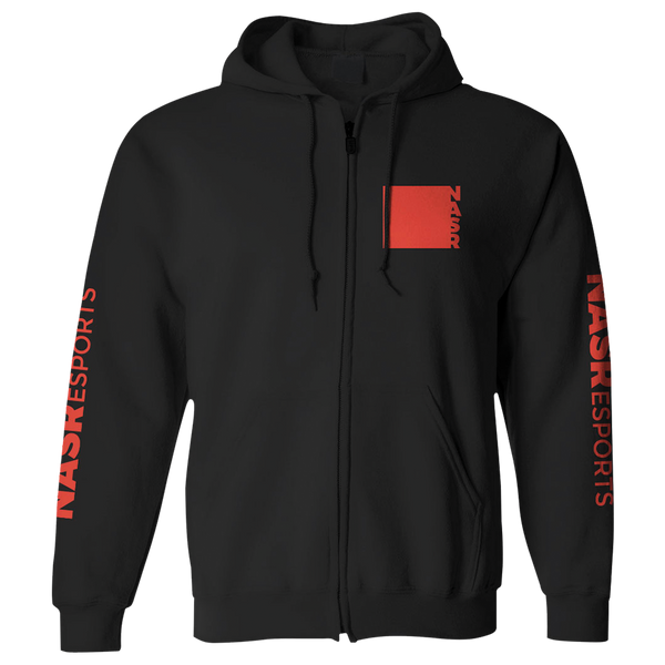 Block and Brush Zip Hoodie