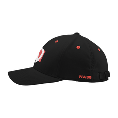Red Box Dad Hat - Black