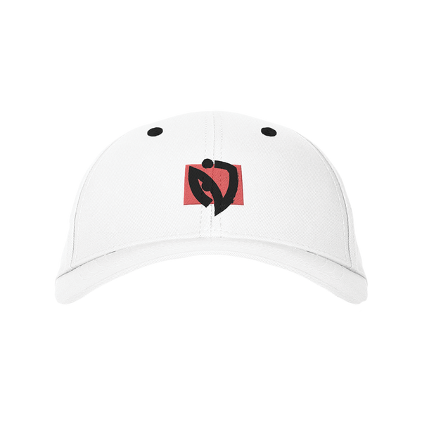 Red Box Dad Hat - White