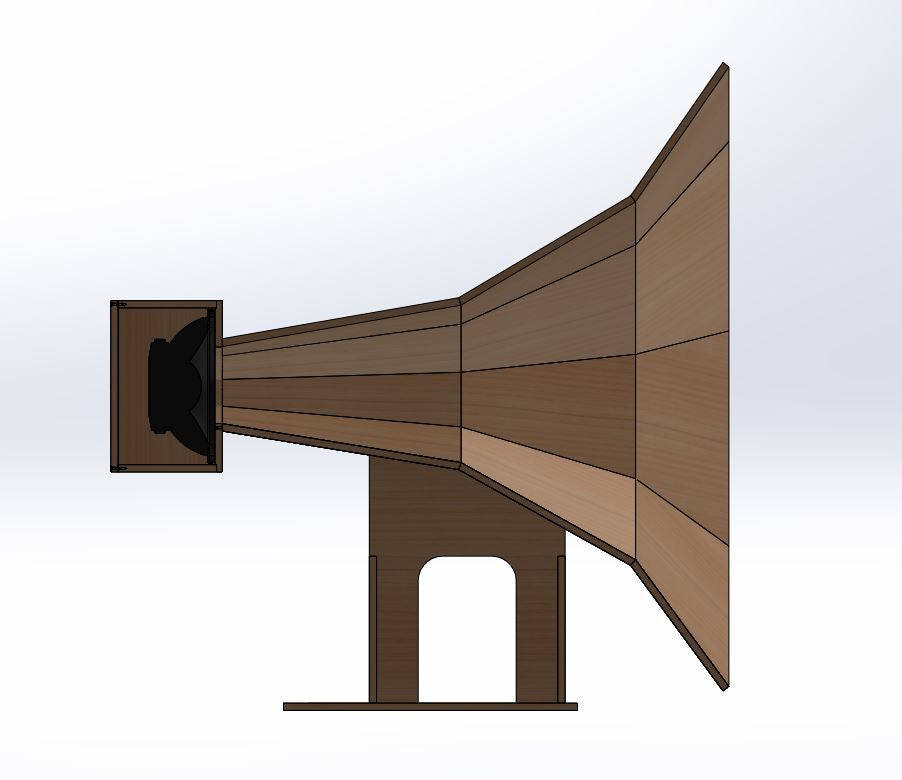 E-80 Mid-Bass Front Horn Speaker Plans