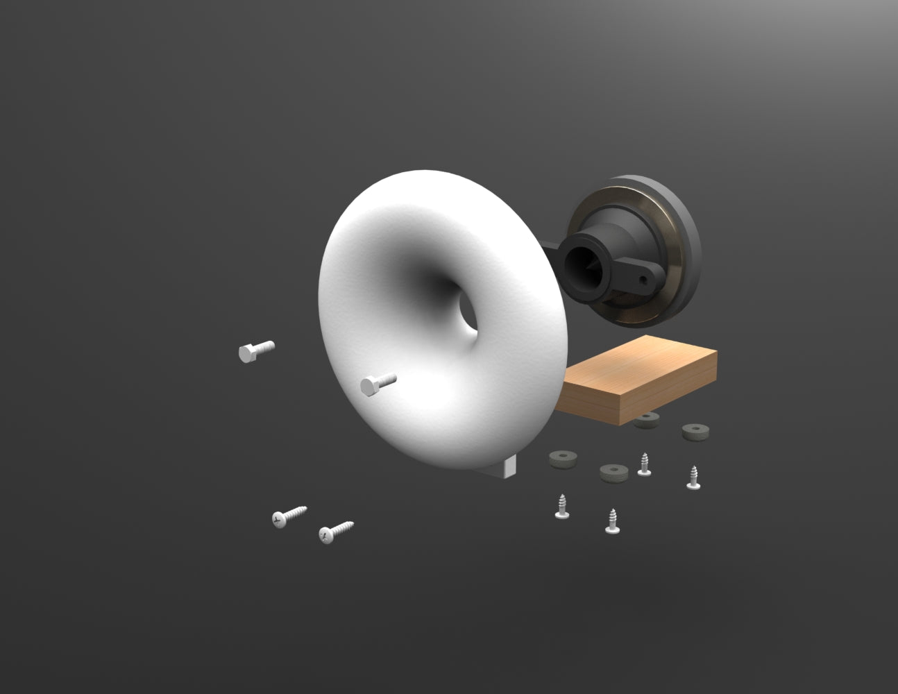 15cm Diameter ES Horn 3D CAD Model