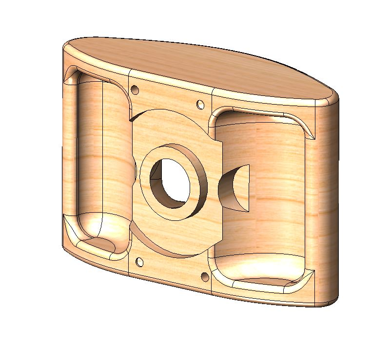 ES-2000 Biradial Wood Horn 3D CAD Model