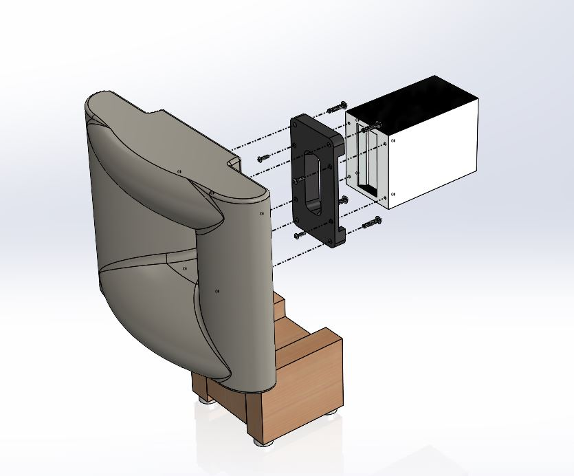 3D CAD Model for Horn No.1155 —- Biradial for RAAL 7020XR