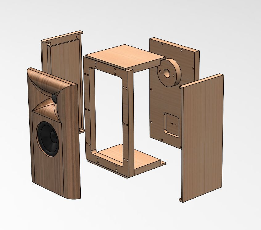 Flat Pack Including Baffle for 1159 Stand-Mount Series