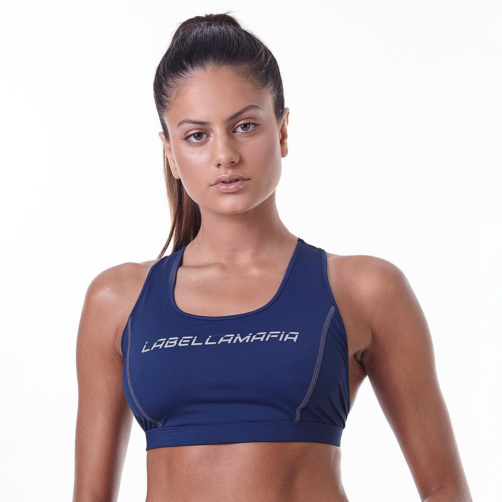 Cycling Blue Fitness Sports Bra