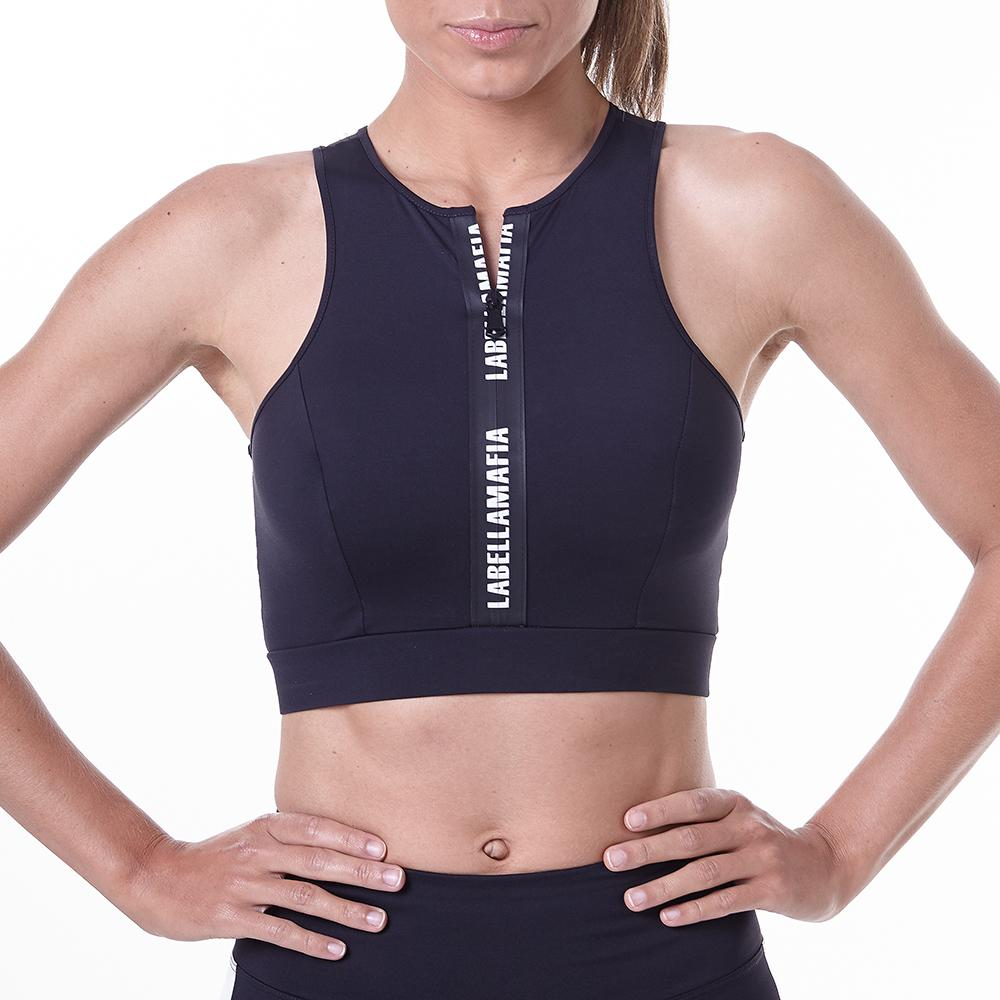 Essential Lux Black Fitness Top