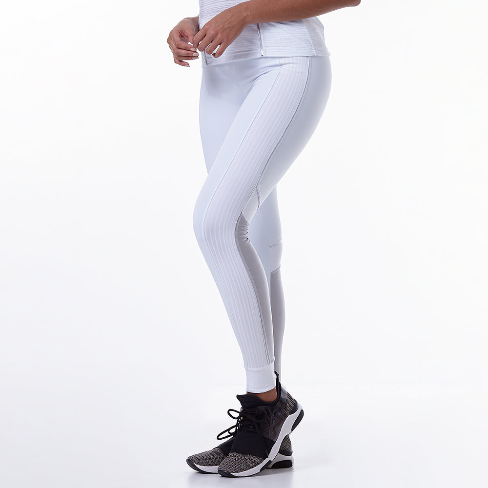 Metallic Athleisure Moments White Legging