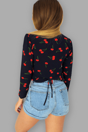 "Cherry Blouse - "" Fruit on Top """