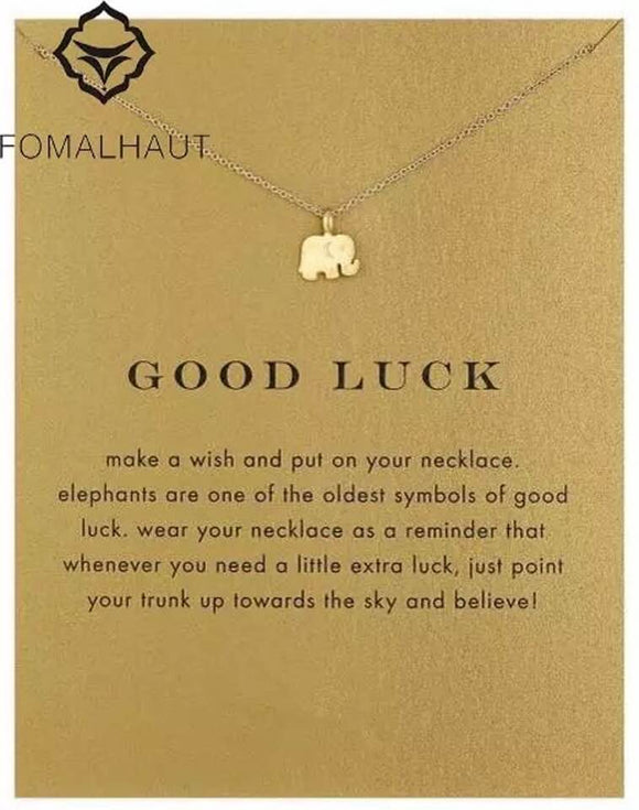 Stylish Advisor Boutique Lucky Elephant Pendant Necklace