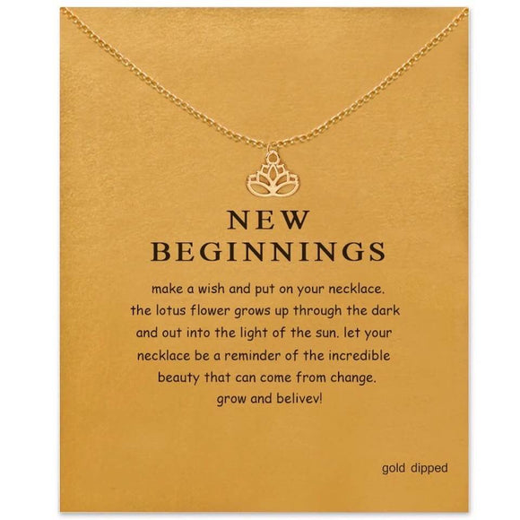 Stylish Advisor Boutique New Beginnings Lotus Pendant Necklace