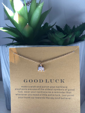 Lucky Elephant Pendant Necklace | Gift Ideas | Mother's Day