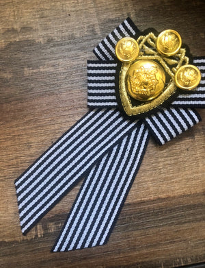 British Navy Inspired Brooch | Gift Idea | Mother's Day Gift