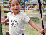 Stylish Advisor Fight Like A Girl Toddler Short Sleeve Tee