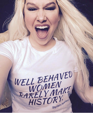 Well Behaved Women Rarely Make History.  Women's short sleeve t-shirtGirl Boss Shirt | Boss Babe | Girl Boss T Shirt | Ambitious Woman | Woman CEO | Business Woman | Boss Lady | Female Entrepreneur | Female Boss Gift