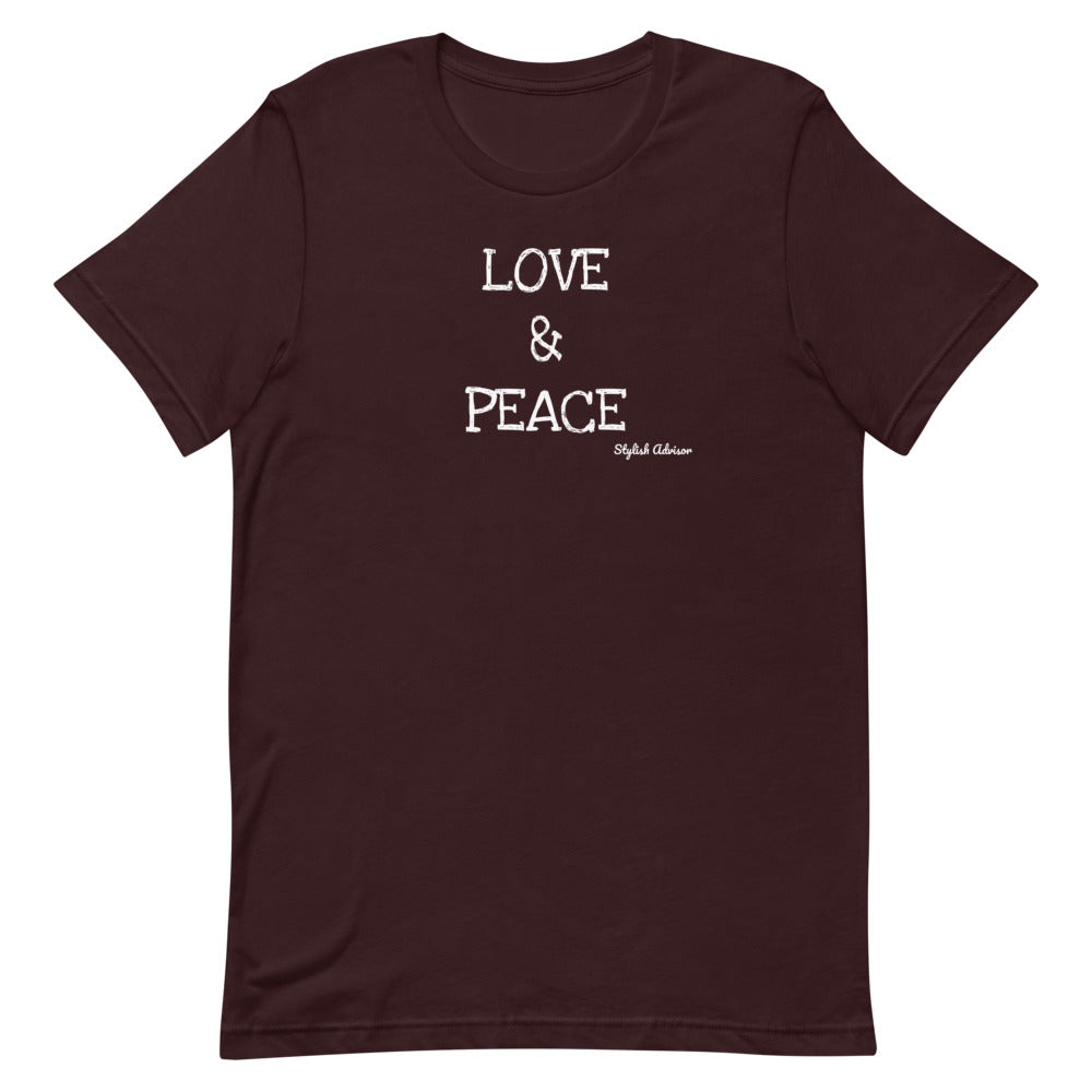 Love & Peace Black Lifes Matter Short-Sleeve Unisex T-Shirt